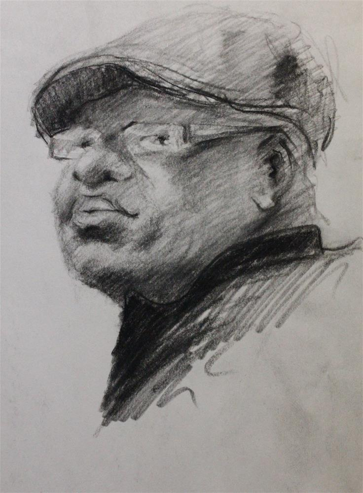 """Portrait sketch"" original fine art by Marco Vazquez"
