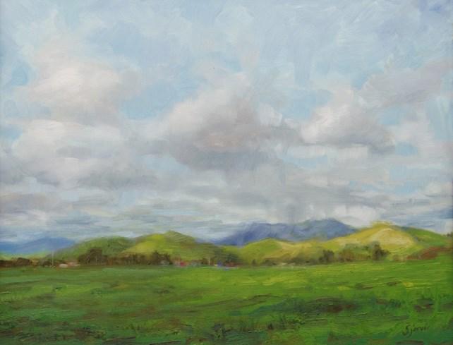 """""""Spring Virga"""" original fine art by Susan N Jarvis"""