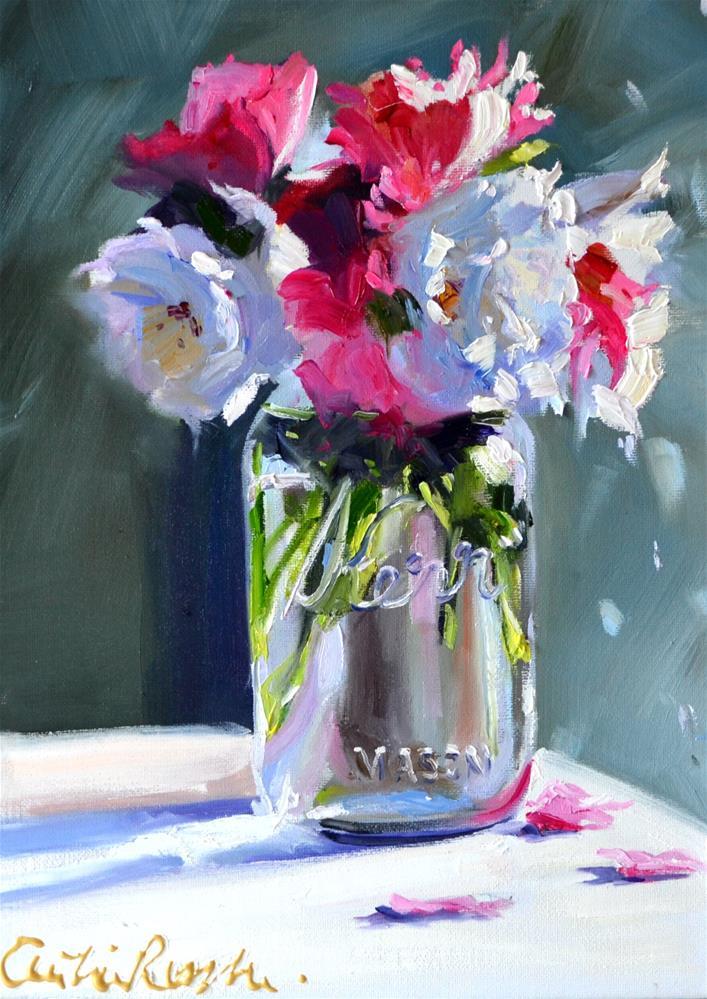 """KERR MASON JAR"" original fine art by Cecilia Rosslee"