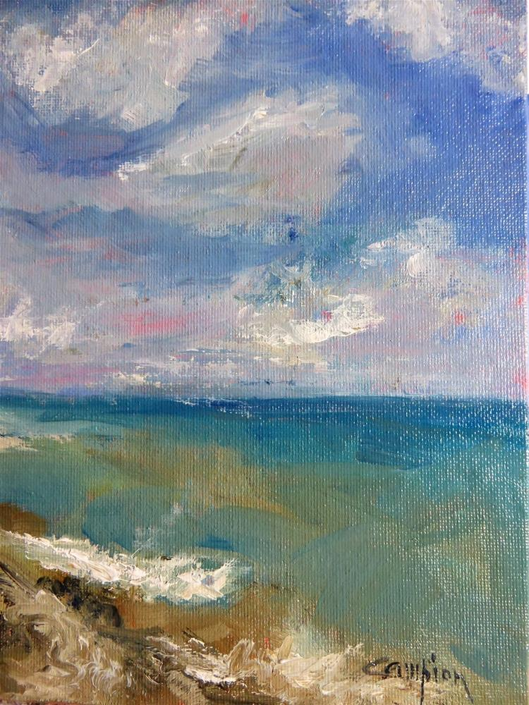 """582 Lake Michigan at Beach Drive"" original fine art by Diane Campion"