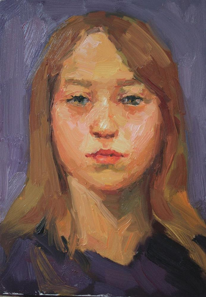 """Portrait Study #17"" original fine art by Kathryn Townsend"