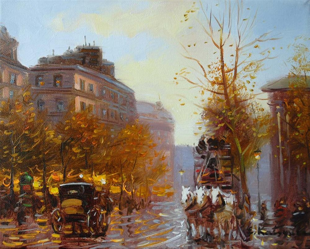 """Autumn in Paris"" original fine art by Elena Katsyura"