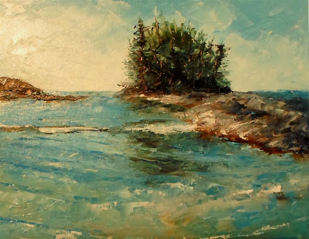 """8 x 10 inch oil Tofino, B.C."" original fine art by Linda Yurgensen"
