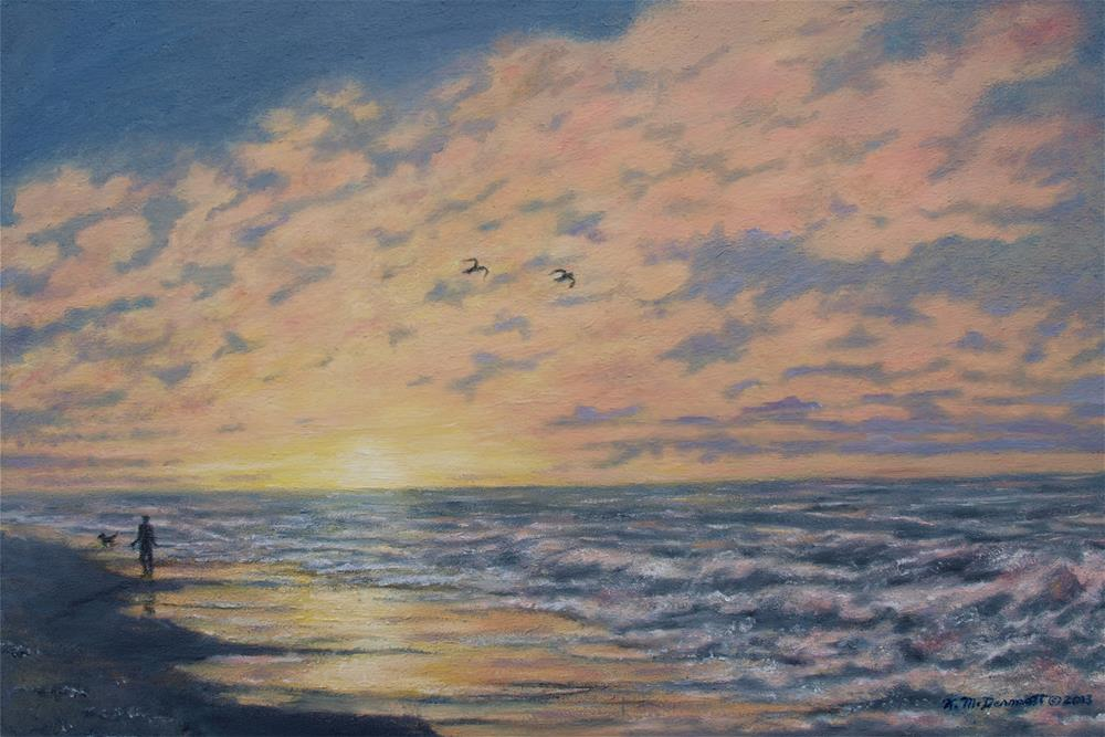 """Atlantic Dawn # 3 (C) 2013 by K. McDermott"" original fine art by Kathleen McDermott"