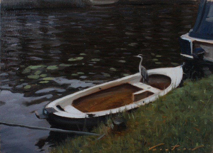 """""""Early Morning in Amsterdam"""" original fine art by Phil Couture"""