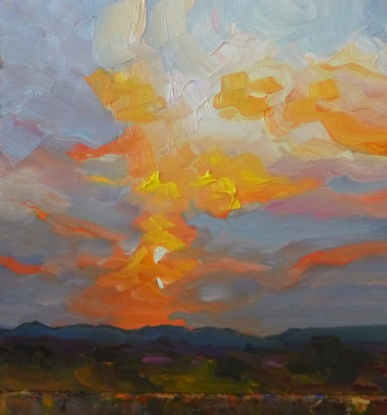 """49 MOUNTAIN SUNSET"" original fine art by Dee Sanchez"