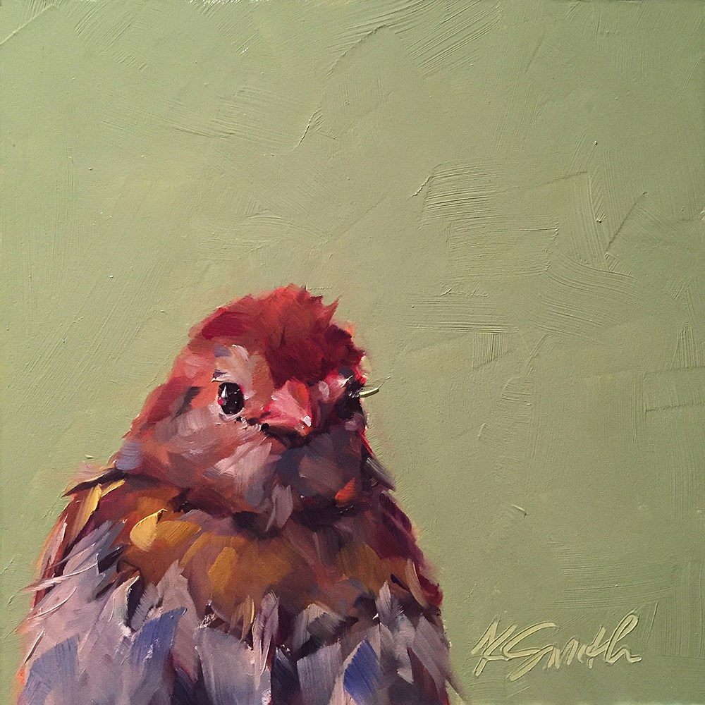 """cutie patootie"" original fine art by Kim Smith"