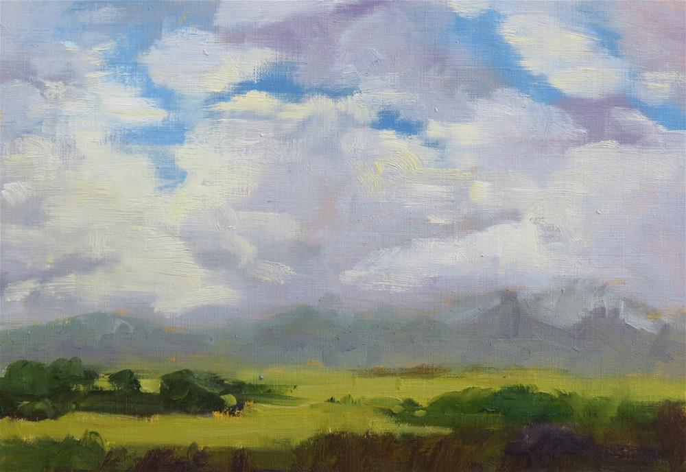 """A Peek Of The Peak"" original fine art by Pam Holnback"