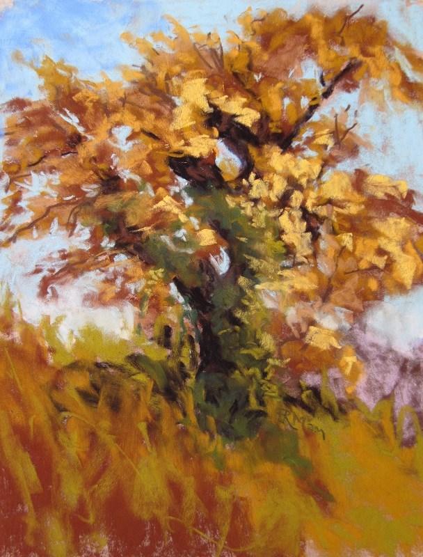 """English Oak"" original fine art by Ruth Mann"
