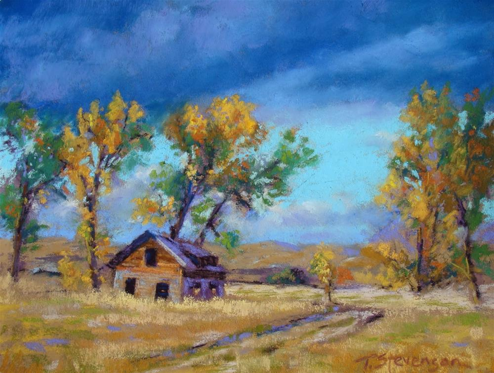 """Cottonwood Dance"" original fine art by Trish Stevenson"