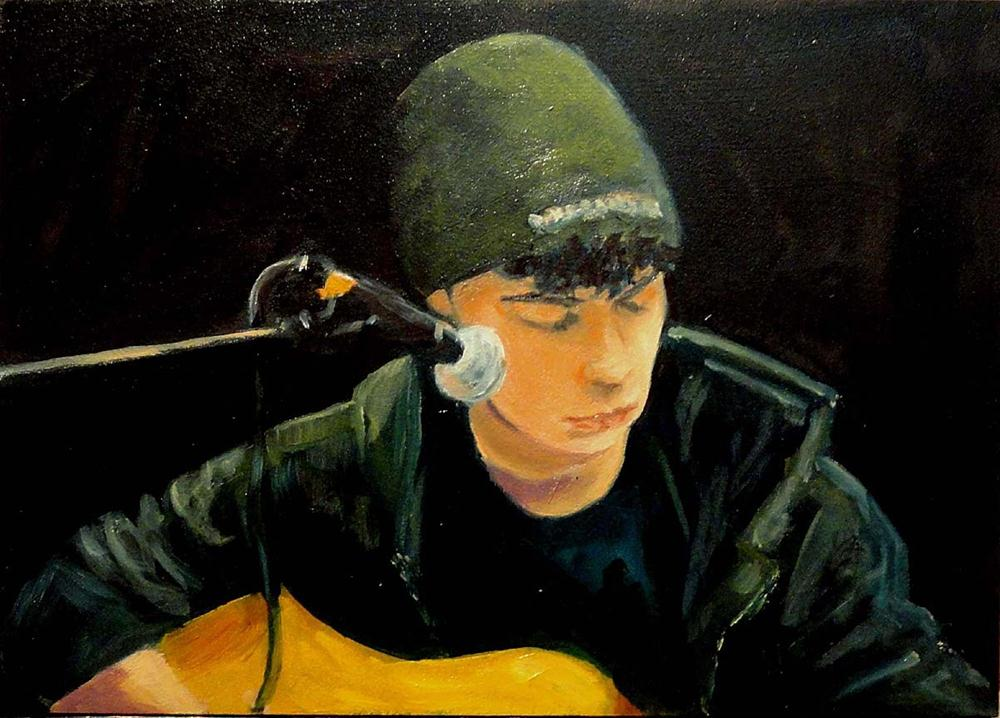 """Jacob Doing Johnny Cash"" original fine art by Cietha Wilson"