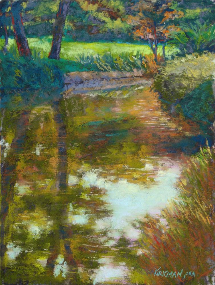 """Garden Pond"" original fine art by Rita Kirkman"