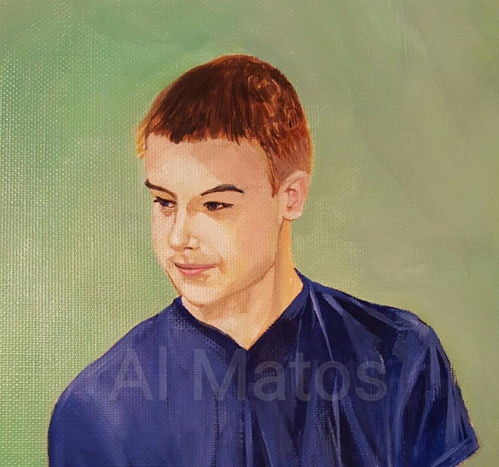"""Boy with red hair "" original fine art by Al Matos"