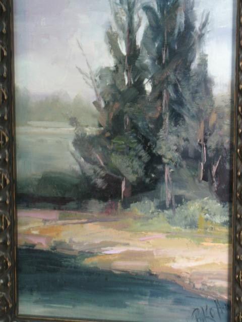 """Still Standing:  8 x 16 oil painting in custom 4 inch frame"" original fine art by Brenda Kollman"