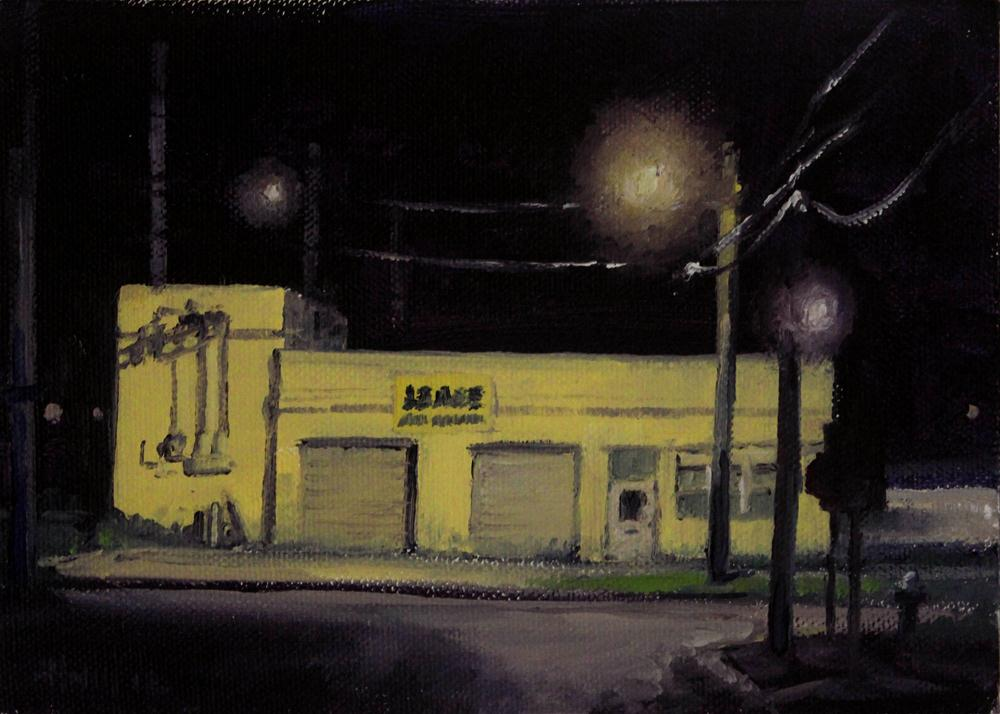 """Art Deco Garage"" original fine art by Ski Holm"
