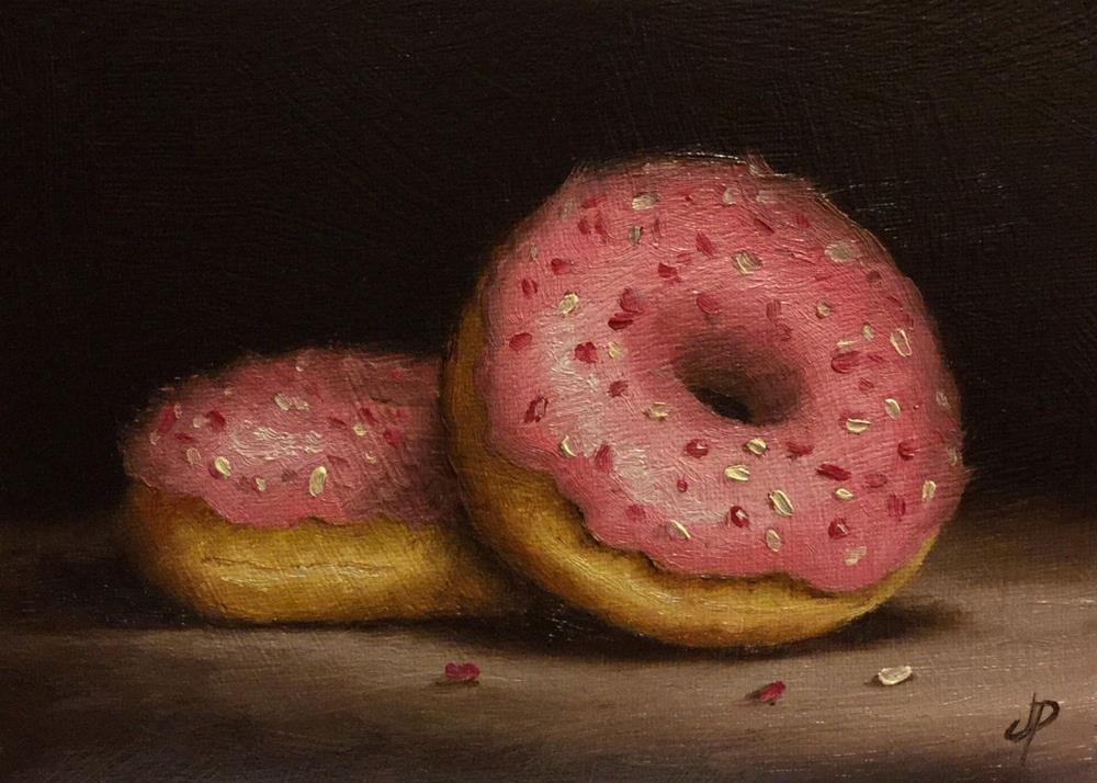"""Pink Donuts"" original fine art by Jane Palmer"