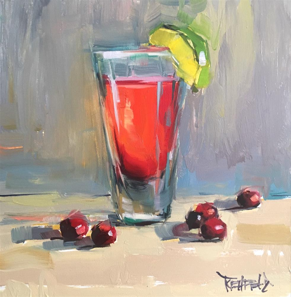 """Pink Drink"" original fine art by Cathleen Rehfeld"