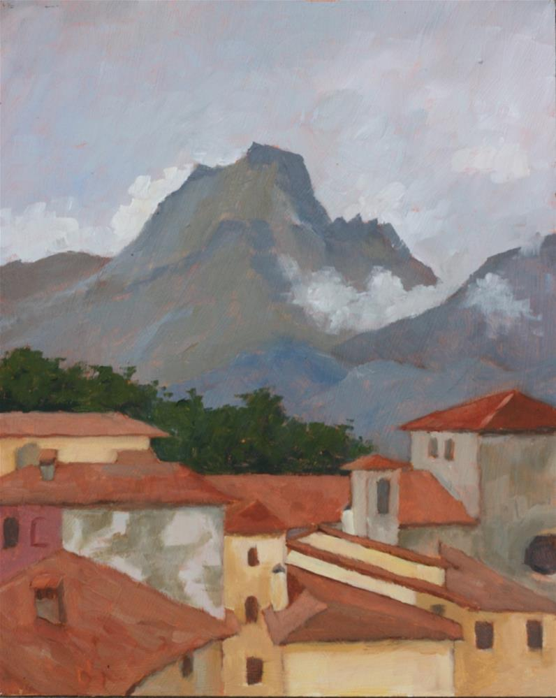 """After the rain, Barga"" original fine art by Graham Townsend"