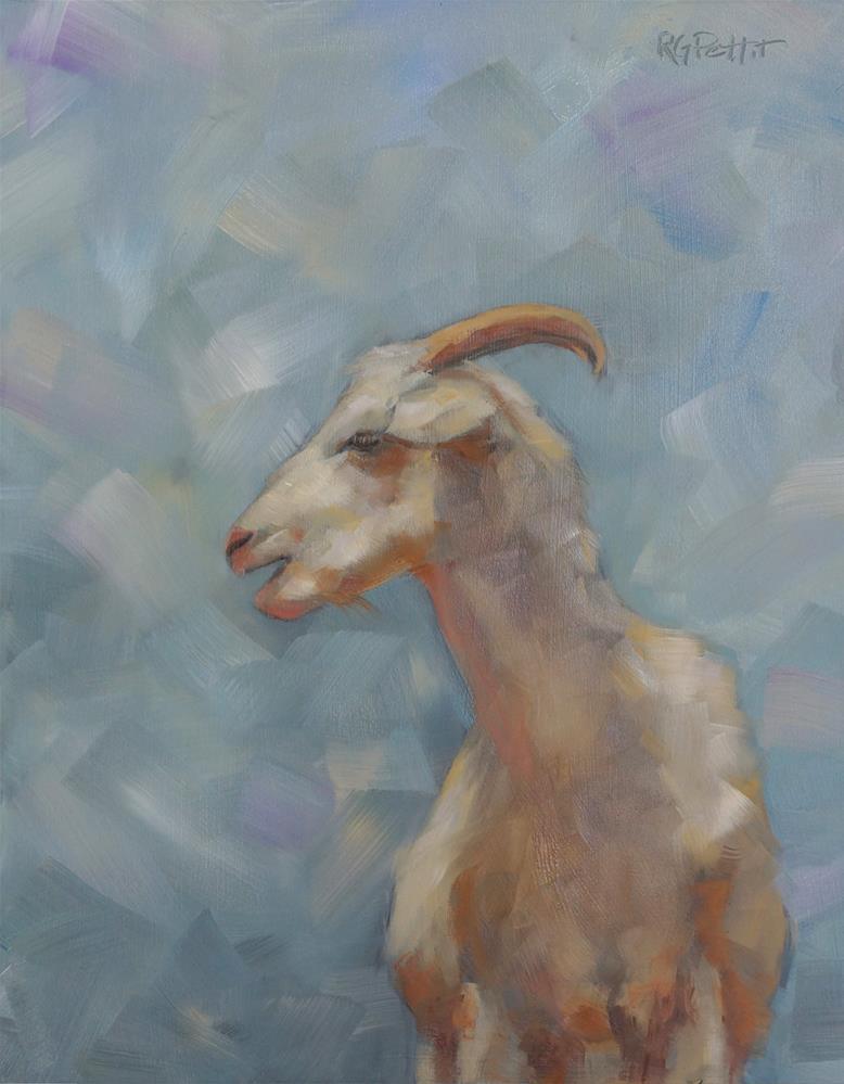 """Goat"" original fine art by Rhea  Groepper Pettit"