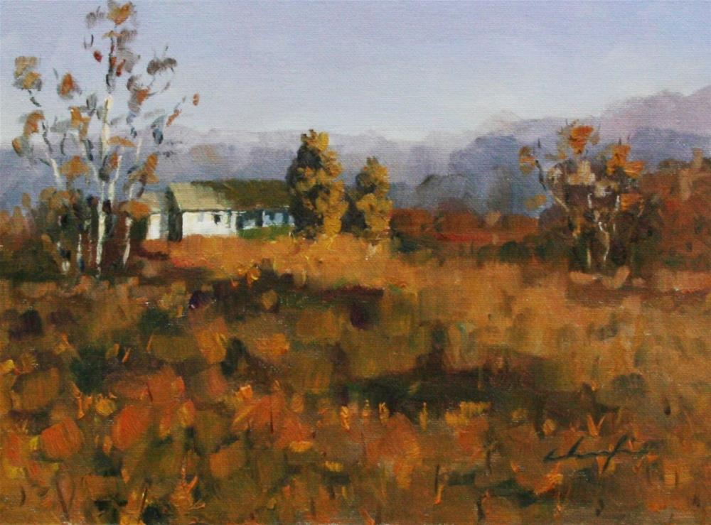 """October"" original fine art by Chuang Liu"