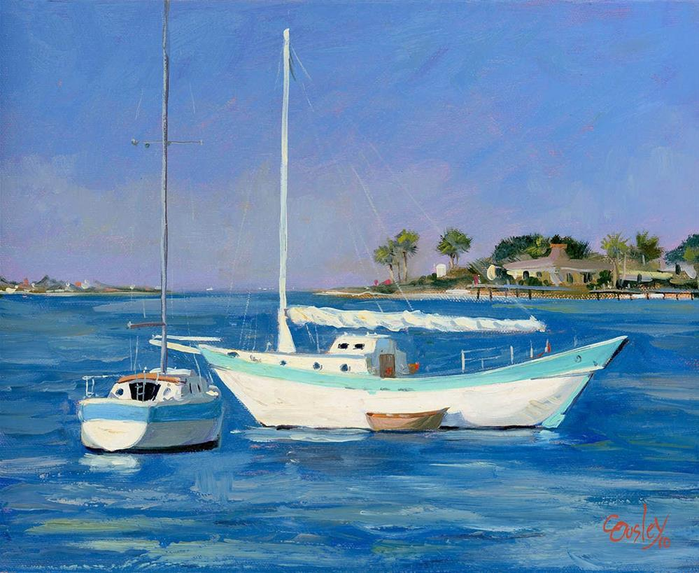 """""""St. Augustine Sailboats"""" original fine art by Chris Ousley"""