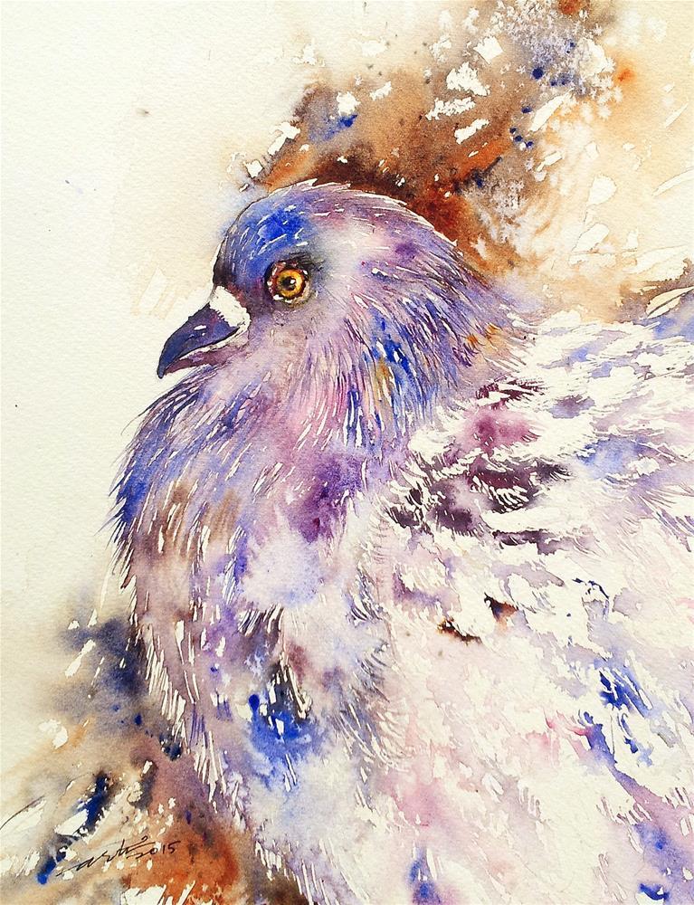 """Rock Dove"" original fine art by Arti Chauhan"
