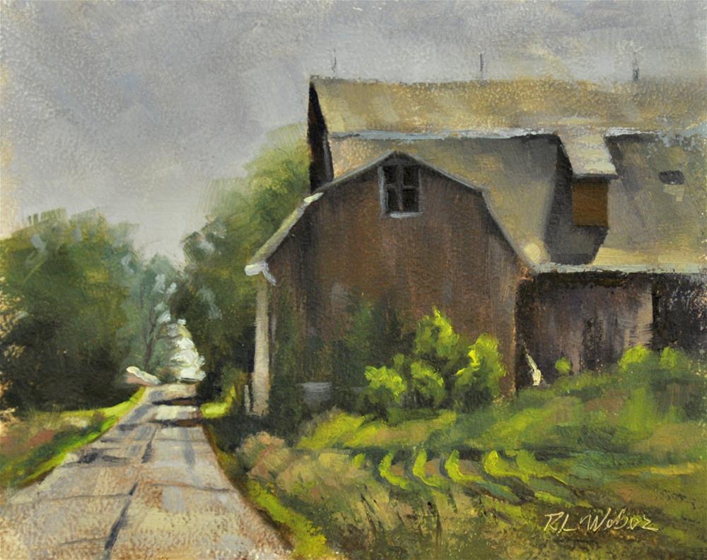 """Late Morning on Shady Lane"" original fine art by Rl Weber"