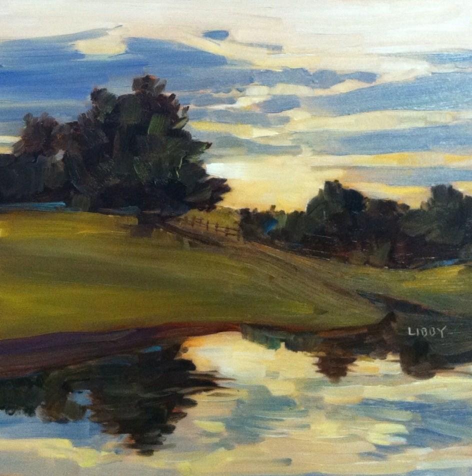 """Cloudy but Fair"" original fine art by Libby Anderson"