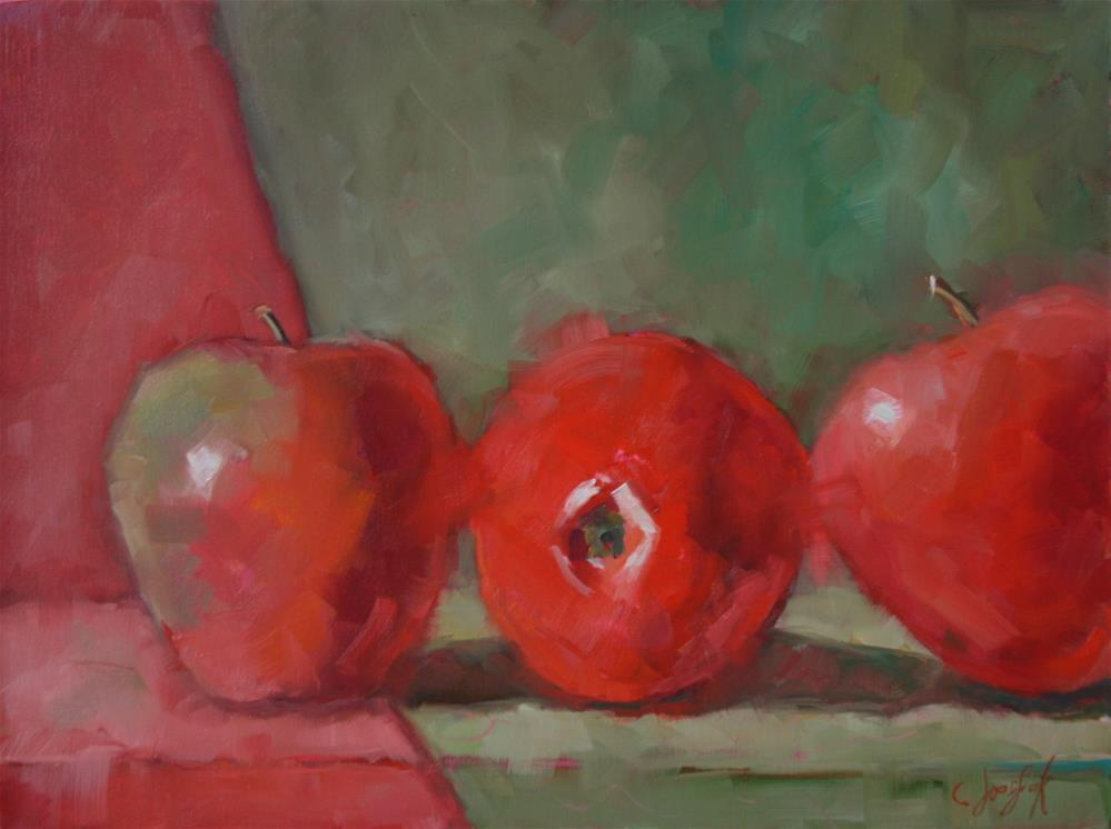 """Abstract Apples"" original fine art by Carol Josefiak"