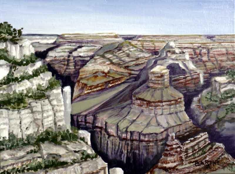 """A Grand Canyon"" original fine art by Janice Bartke Thompson"