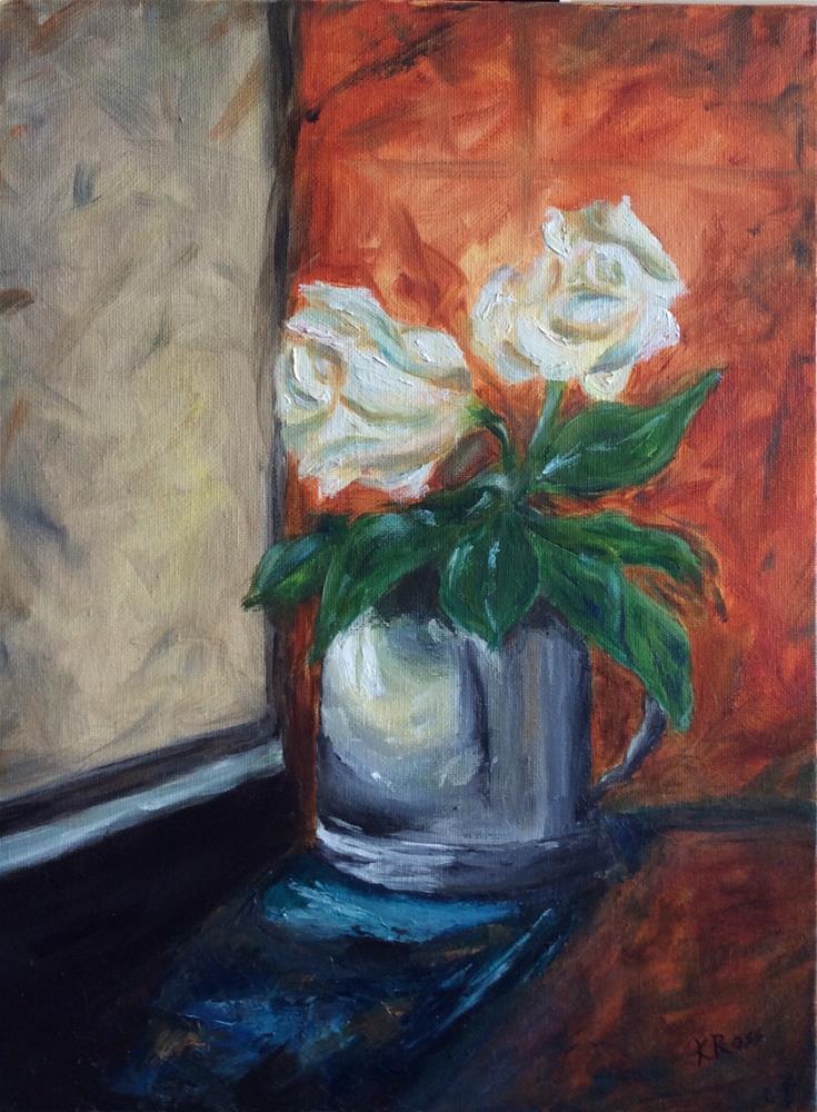 """""""Roses in the window"""" original fine art by Kathryn Ross"""