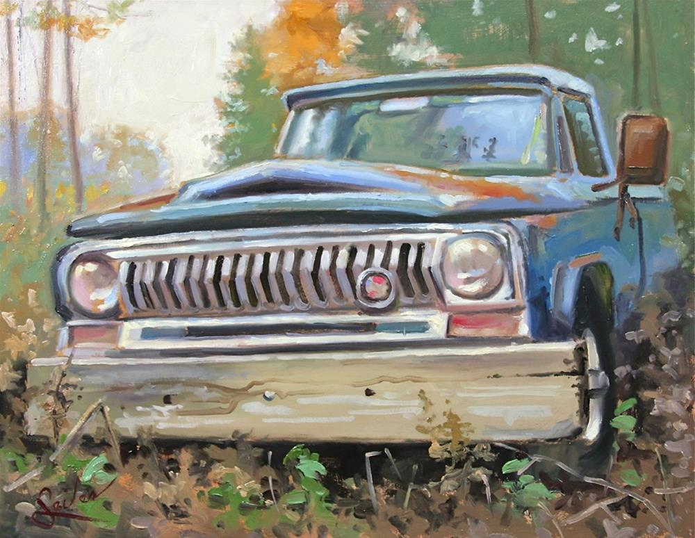 """Old Abandoned Jeep"" original fine art by Larry Seiler"