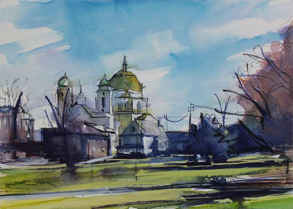 """Ridge Road and South Park"" original fine art by Chris  Breier"