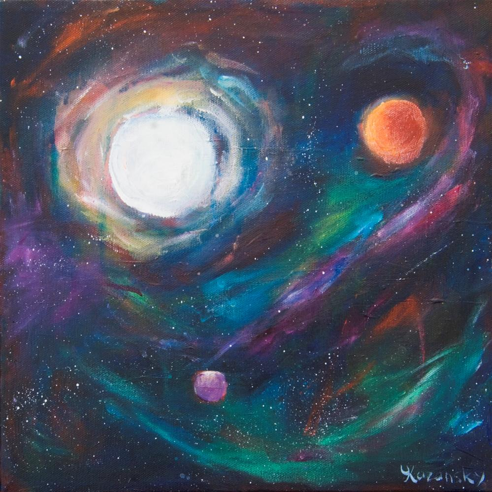 """View from Starbase 27"" original fine art by Yulia Kazansky"