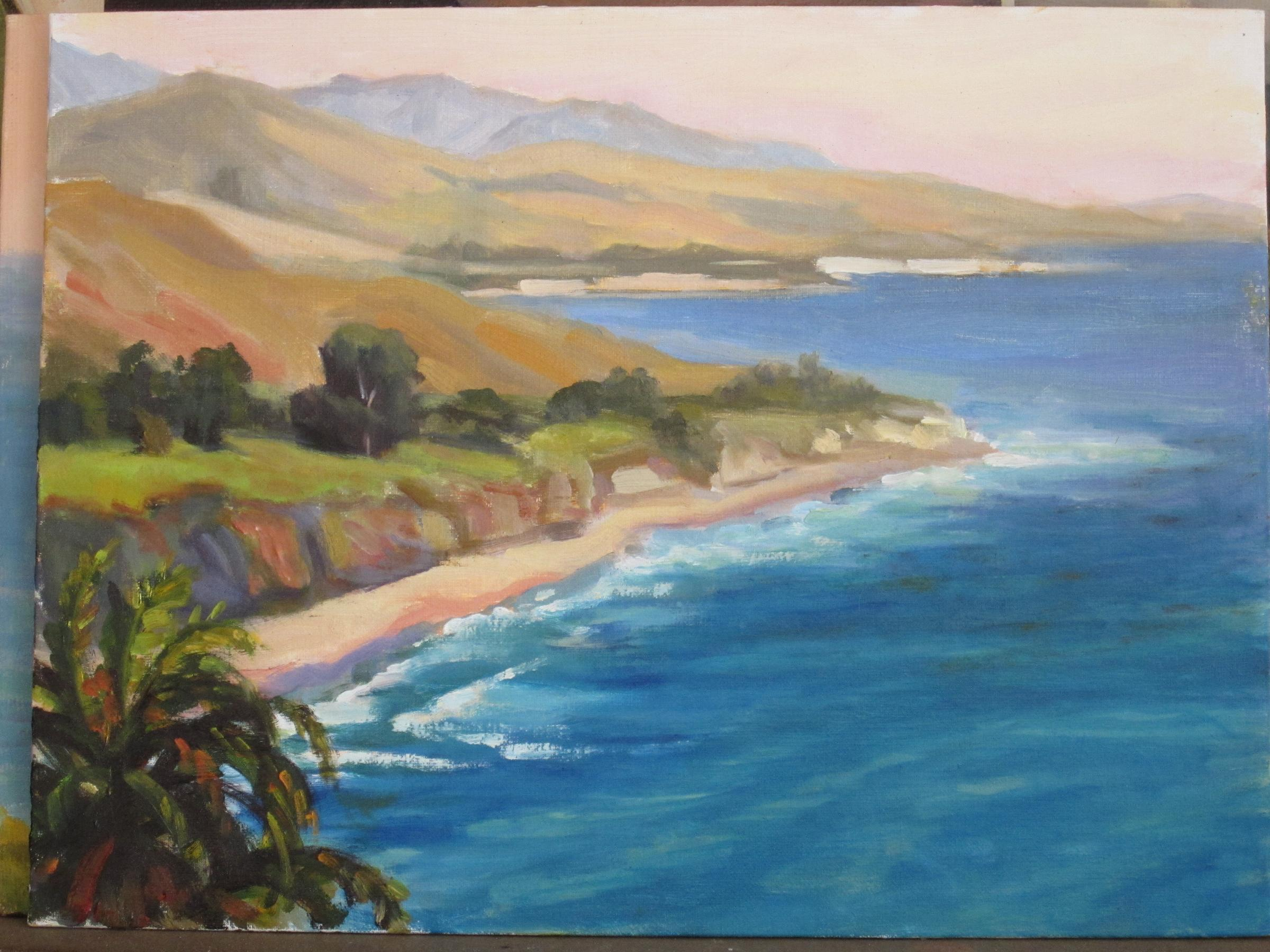 """Gaviota Coast"" original fine art by Leigh Alexandra Sparks"