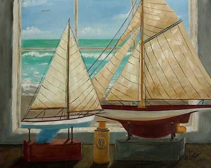 """The Sailors Telescope"" original fine art by Sunny Williams"