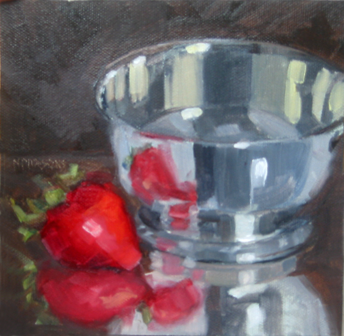 """Strawberry Fields Forever"" original fine art by Nancy Parsons"