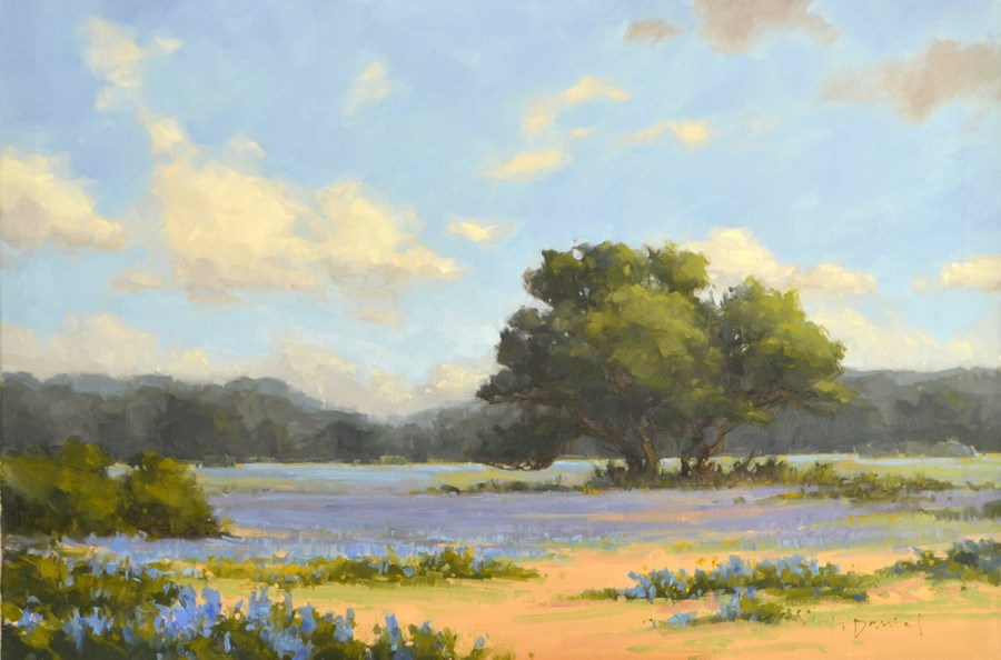 """Azure Fields - Show Tip #26"" original fine art by Laurel Daniel"