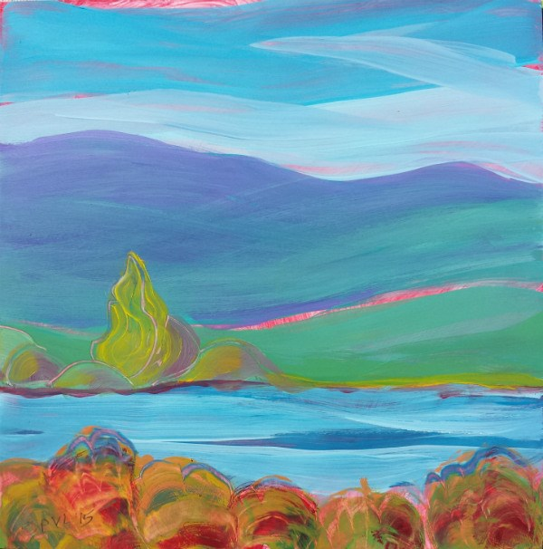 """Valley Morning 26"" original fine art by Pam Van Londen"
