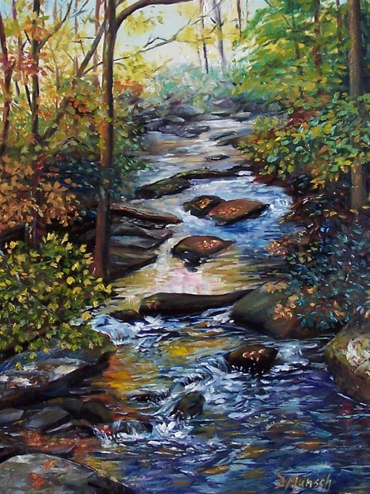 """Sunlight Creek"" original fine art by Donna Munsch"