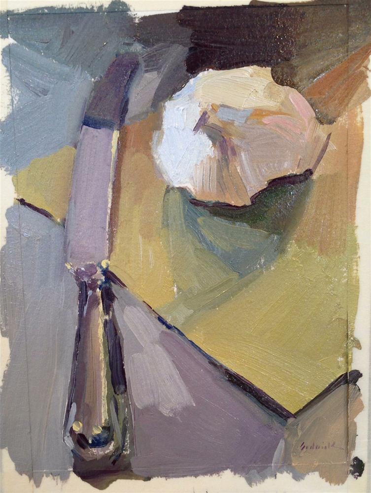 """Sketch with Garlic and Butter Knife"" original fine art by Sarah Sedwick"