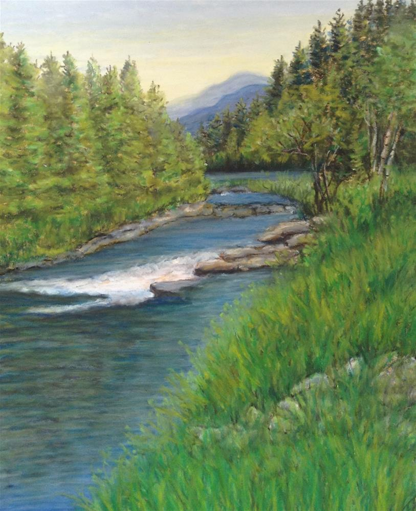 """Cascade"" original fine art by Mary McCormick-Wixson"