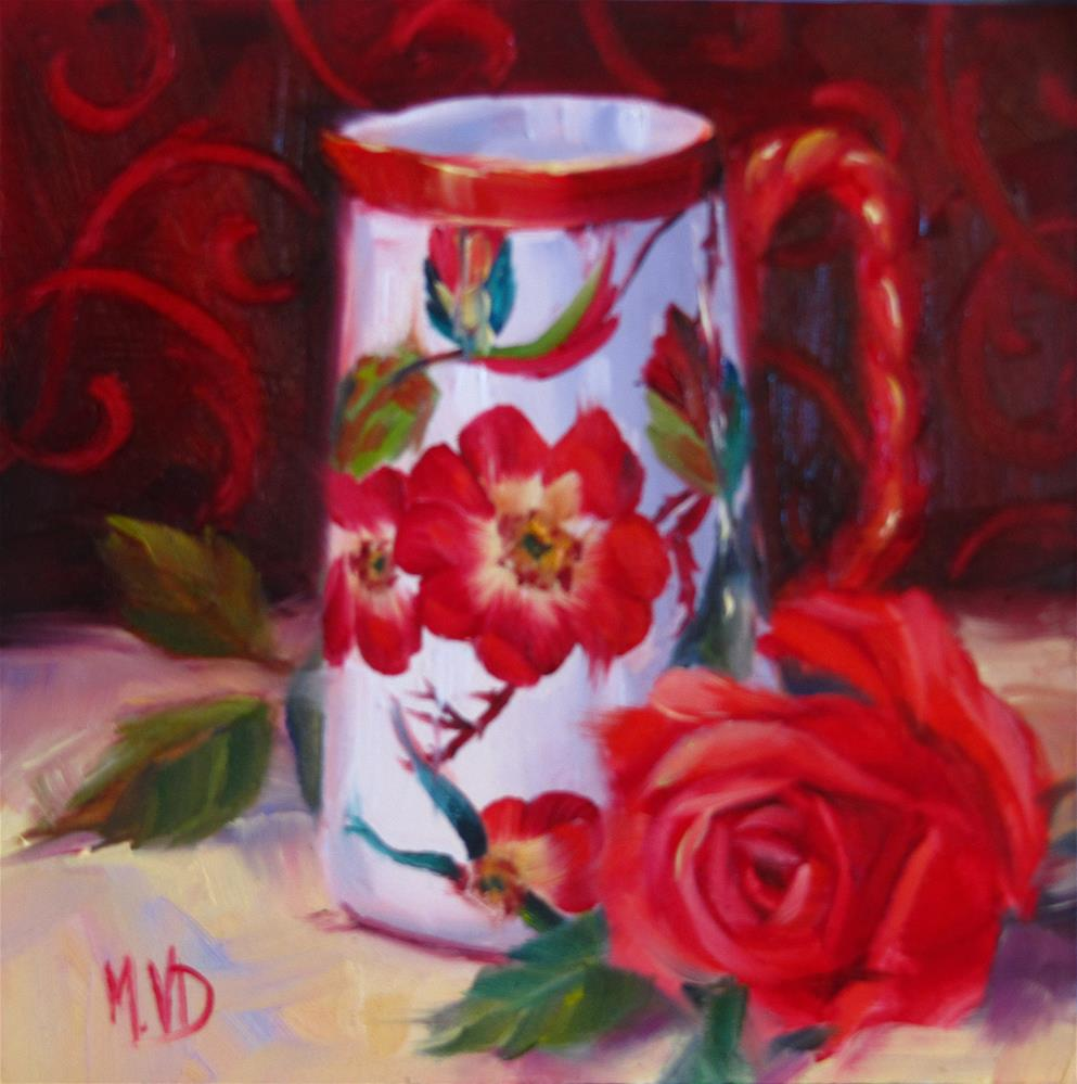 """China & Rose"" original fine art by Mary  Van Deman"