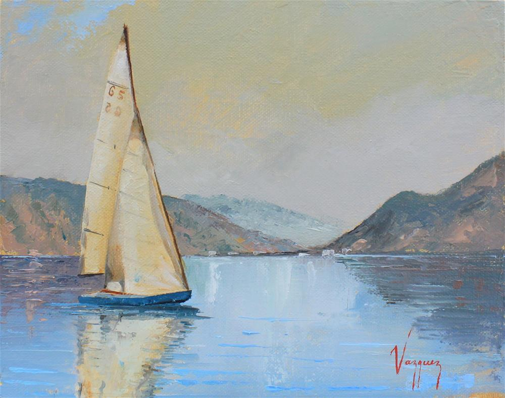 """Sailboat "" original fine art by Marco Vazquez"