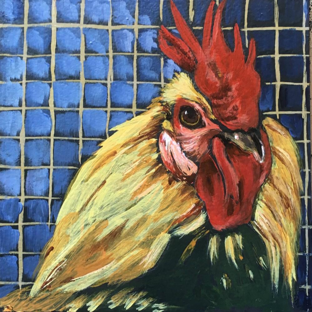 """Chicken 1 - SOLD"" original fine art by Colleen OHair"