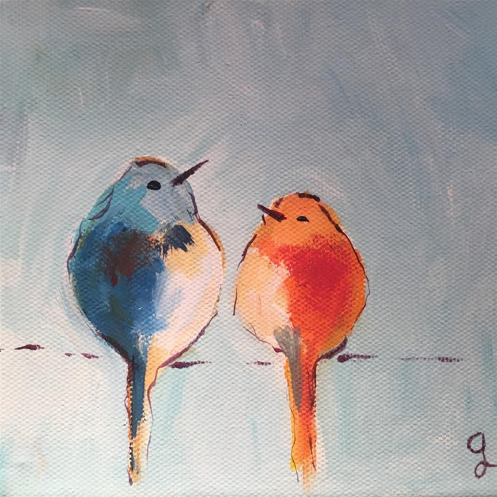 """Two Friends"" original fine art by Gayle Lambeth"