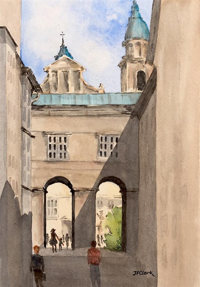 """Old Town, Salzburg"" original fine art by Judith Freeman Clark"