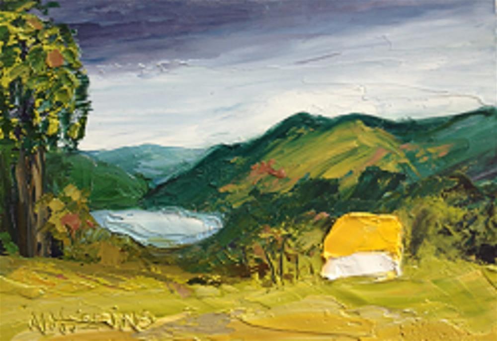 """An Irish Country Cottage"" original fine art by Marie O' Higgins"