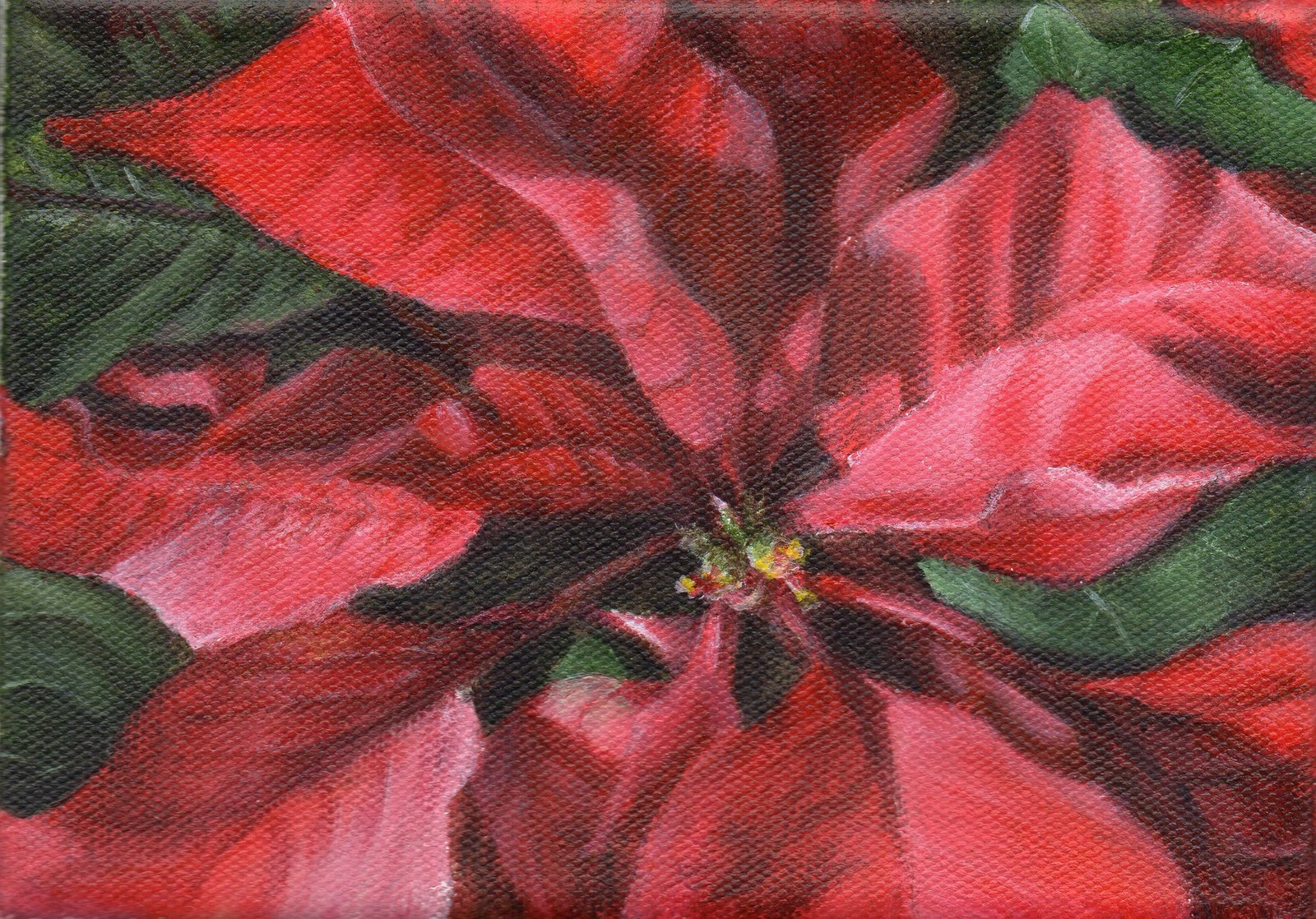 """Season's Greetings"" original fine art by Debbie Shirley"