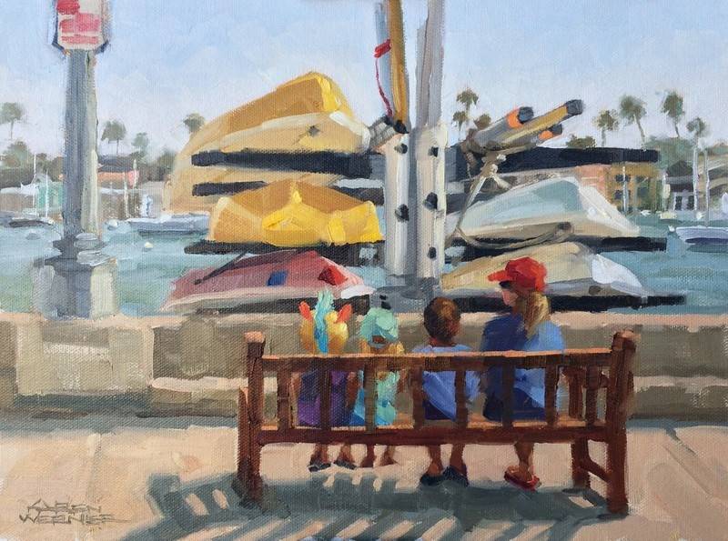 """Island Kids"" original fine art by Karen Werner"
